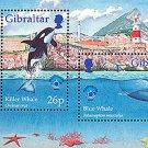 Marine Environment souvenir sheet mnh 1998 Gibraltar whale dolphin