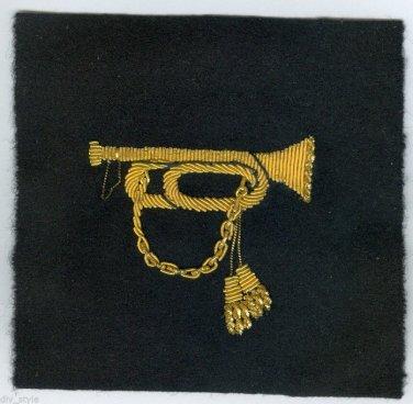 Drum & Bugle Corps, Midshipmen insignia gold metallic thread 1977 patch