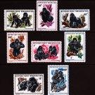 Gorillas mnh set of 8 stamps 1970 Rwanda #359-66
