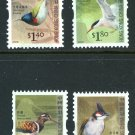 Birds 2006 set of 4 mnh definitive coil stamps Hong Kong #1245-8