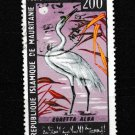 Birds Mauritania C61 used stamp 1967 common egret