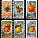 Fruit Nuts set of 6 used stamps 1965 Albania #787-92