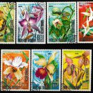 Flowers set of 7 used stamps Equatorial Guinea nature protection
