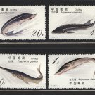 Sturgeon mnh set of 4 stamps 1994 China #2487-90 fish