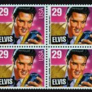 Elvis Presley, 1993 mnh block of 4 stamps #2721