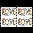 Love stamps 1983 mnh block of 4stamps USA #1951 Flowers