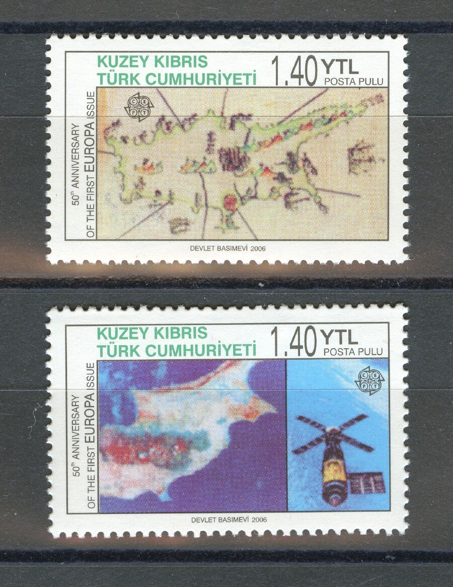 50 years of Europa Stamps 2006 mnh set of 2 stamps Turkish Rep. of N. Cyprus #606-7