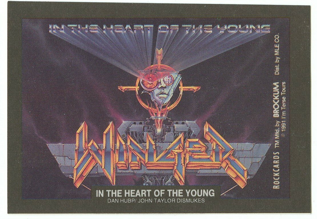 In the Heart of the Young, Winger sticker insert Brockum RockCards 1991