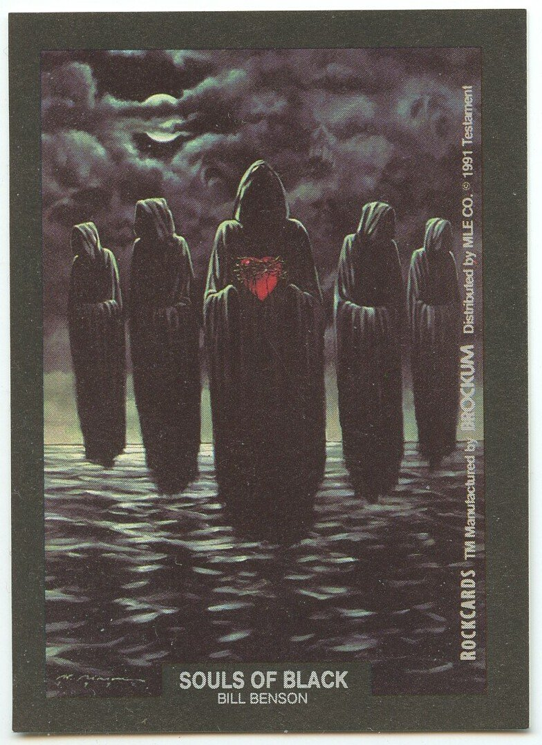 Souls of Black Bill Benson Testament sticker insert Brockum RockCards 1991