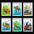 Saltwater fish mnh set of 6 stamps 1987 Hungary #3052-7