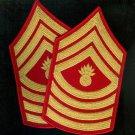 Master Gunnery Sergeant USMC gold/scarlet mens' dress blue uniform