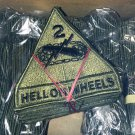 "Box of 200 2nd Armored Division Patches w/attached tab ""Hell on Wheels"" subdued mint condition"