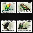 Parrots set of 4 mnh stamps 2011 Burundi #872-5 birds