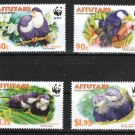 Blue Lorikeet WWF set of 4 mnh stamps 2002 Aitutaki #533-6 birds