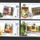 Europa 50 years set of 4 mnh stamps 2006 Latvia #633-6 stamp-on-stamp