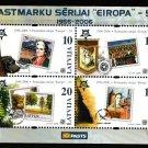 Europa 50 years mnh souvenir sheet 2006 Latvia #637 stamp-on-stamp