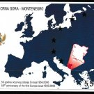 Europa 50 years of stamp issues mnh souvenir sheet 2006 Montenegro #130 map
