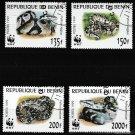 Snakes Ball Python set of 4 cto stamps 1999 Benin #1086