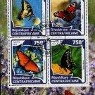 Butterflies Souvenir sheet CTO  2016 Central Africa