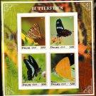 Butterflies mnh imperf Souvenir sheet db1