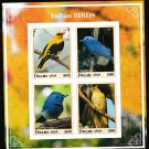 Indian Birds mnh imperf Souvenir sheet dbd2