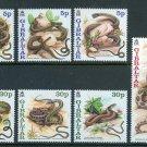 Snakes set of 7 mnh stamps 2001 Gibraltar #864-70