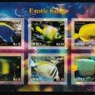 Exotic Fish mnh imperf Souvenir 2017 Eritrea