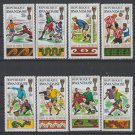 Soccer World Cup 1970 in Mexico mnh set of 8 stamps Rwanda #335-42