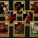 Famous Paintings about reading mnh set of 8 stamps 1973 Rwanda #506-13 books