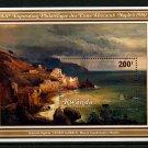 Amalfi Coast Painting mnh souvenir sheet 1980 Rwanda #974 Giacinto Gigante