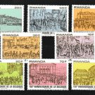 Belgium Independence 150 years mnh set of 8 stamps 1980 Rwanda #993-1000