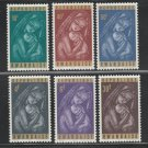 Christmas Madonna mnh set of 6 stamps 1965 Rwanda #137-42