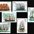 Sailing ships mnh set of 6 stamps 1981 Russia #4981-6 tall ships