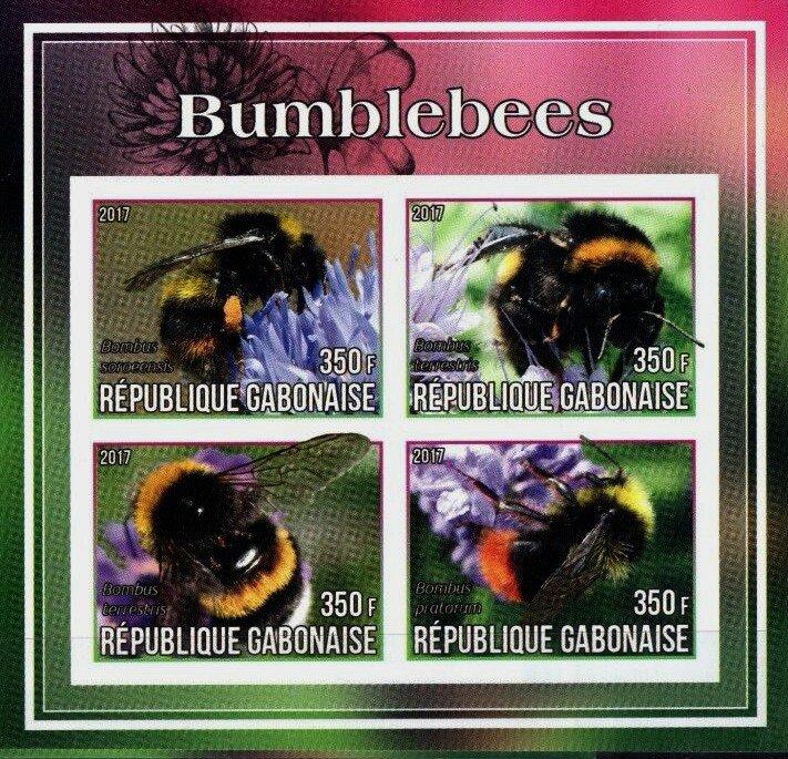 Bumblebees mnh imperf Souvenir sheet