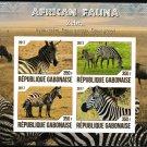 Zebras African Fauna mnh imperf souvenir sheet