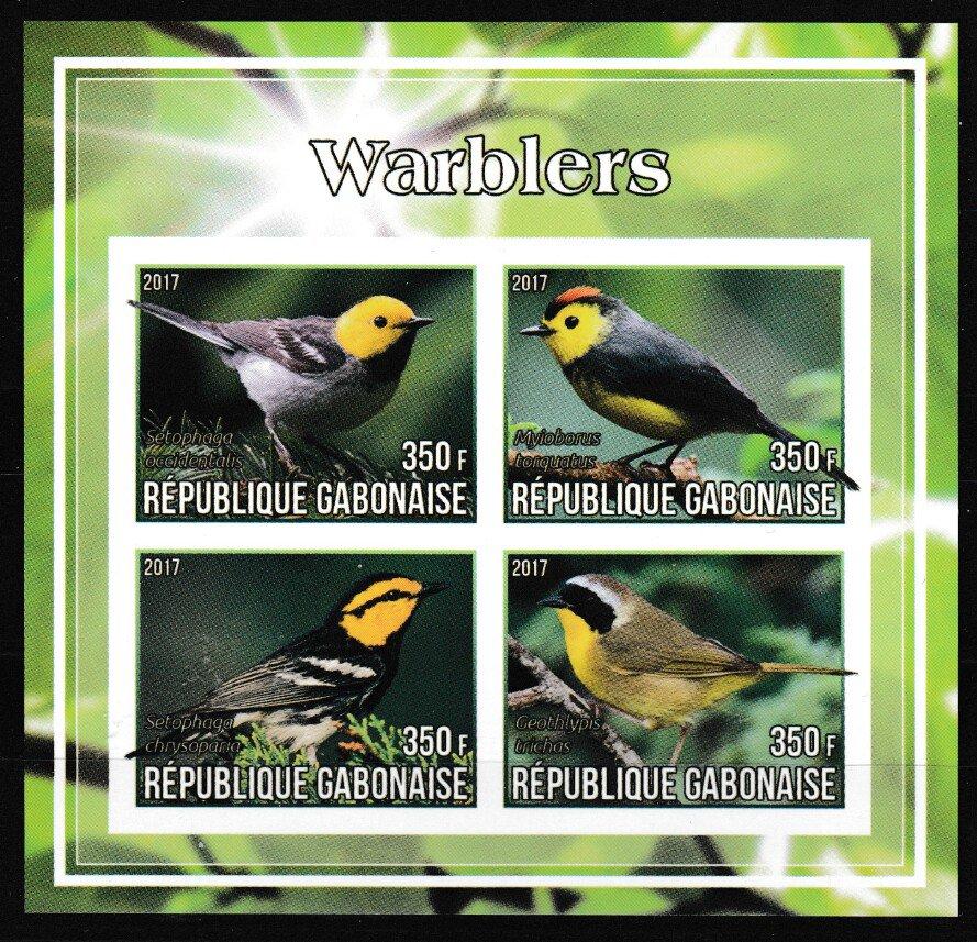 Warblers birds mnh imperf souvenir sheet