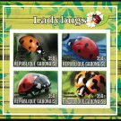Ladybugs mnh imperf souvenir sheet insects (g1)