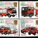 Fire Trucks mnh set of 4 stamps 2001 Tuvalu #850-3 Fire Safety