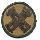 16th Engineer Brigade Patch, genuine military issue subdued color, mint