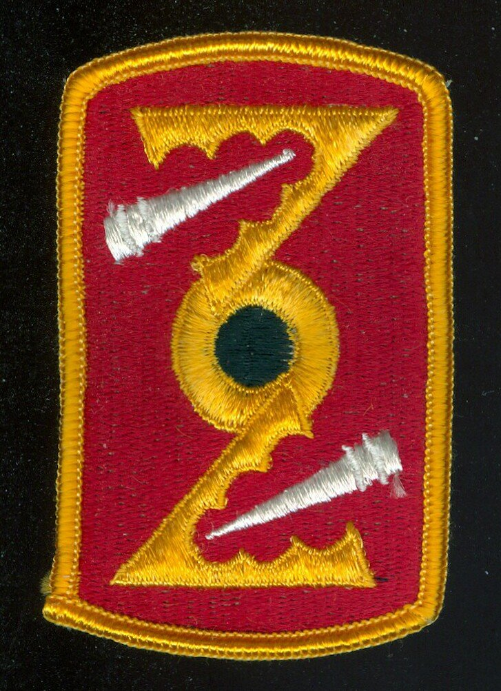 72nd Field Artillery Brigade Patch, full color, original military issue, mint condition
