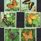 Butterflies set of 6 CTO stamps 1982 Cuba #2478-83
