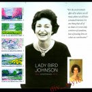 Lady Bird Johnson 2012 Souvenir Sheet Imperf from press sheet #4716g