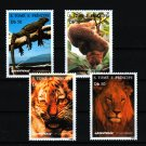 Lion Tiger Iguana Potto 4 mnh stamps 1996 St. Thomas & Prince #1237-40