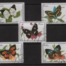 Butterflies set of 5 CTO stamps 2000 Cuba #4062-6