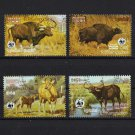 WWF Wild Animals 4 cto stamps 1986 Cambodia #748-8