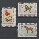 Horse Butterfly Flower Madrid Fair labels 1962 Spain