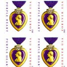 Imperforate Purple Heart 2012 Block of 4 from press sheet #4704a