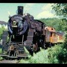 Chicago & NorthWestern postcard steam locomotive 4-6-0 passenger train railroad
