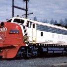 Alaska Railroad postcard FP7 #1510 in Bicentennial paint train