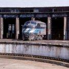 AMTRAK E8 #4316 postcard passenger train Harrisburg Roundhouse